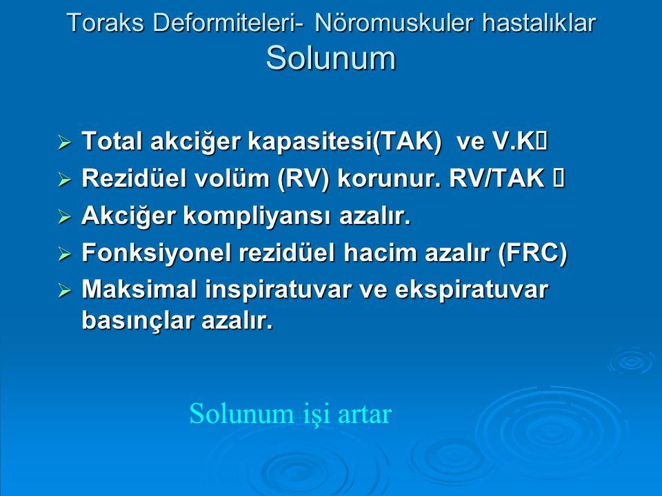 Toraks Deformiteleri- Nöromuskuler hastalıklar Solunum