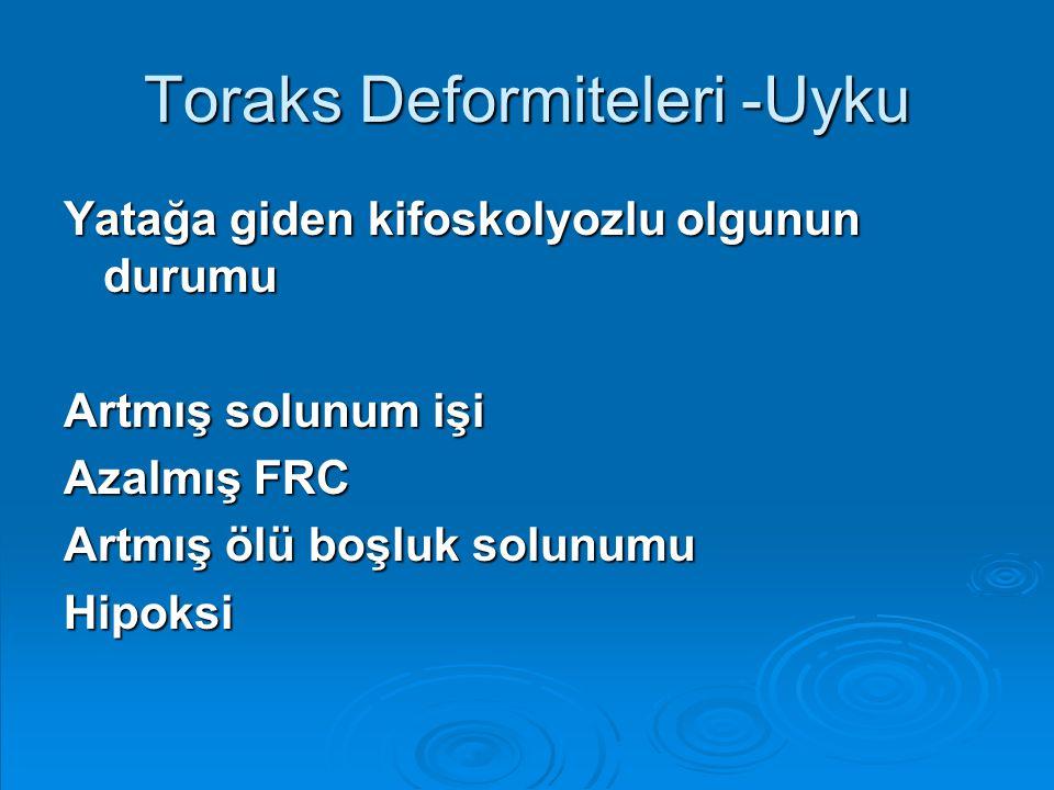 Toraks Deformiteleri -Uyku