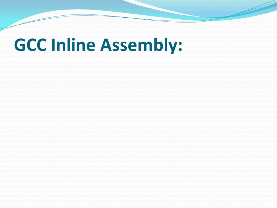 GCC Inline Assembly: