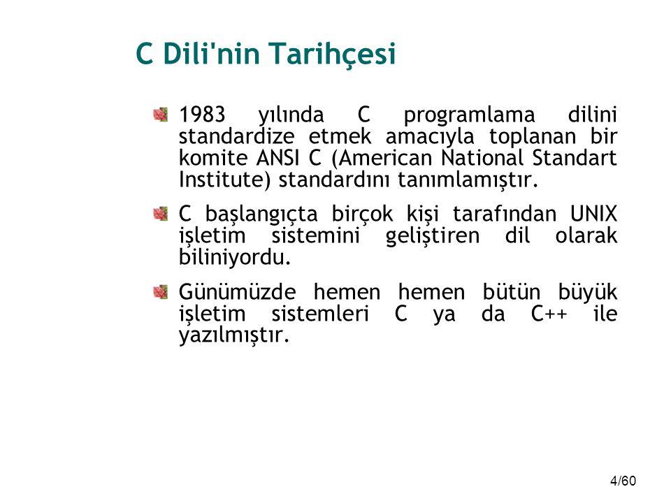 C Dili nin Tarihçesi