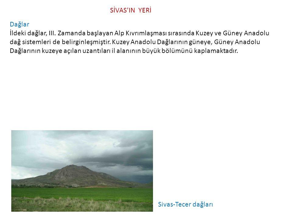 SİVAS'IN YERİ Dağlar.