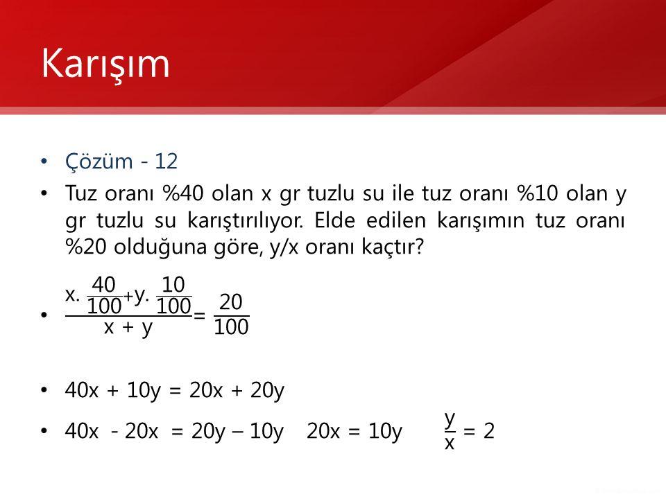 Karışım Çözüm - 12.