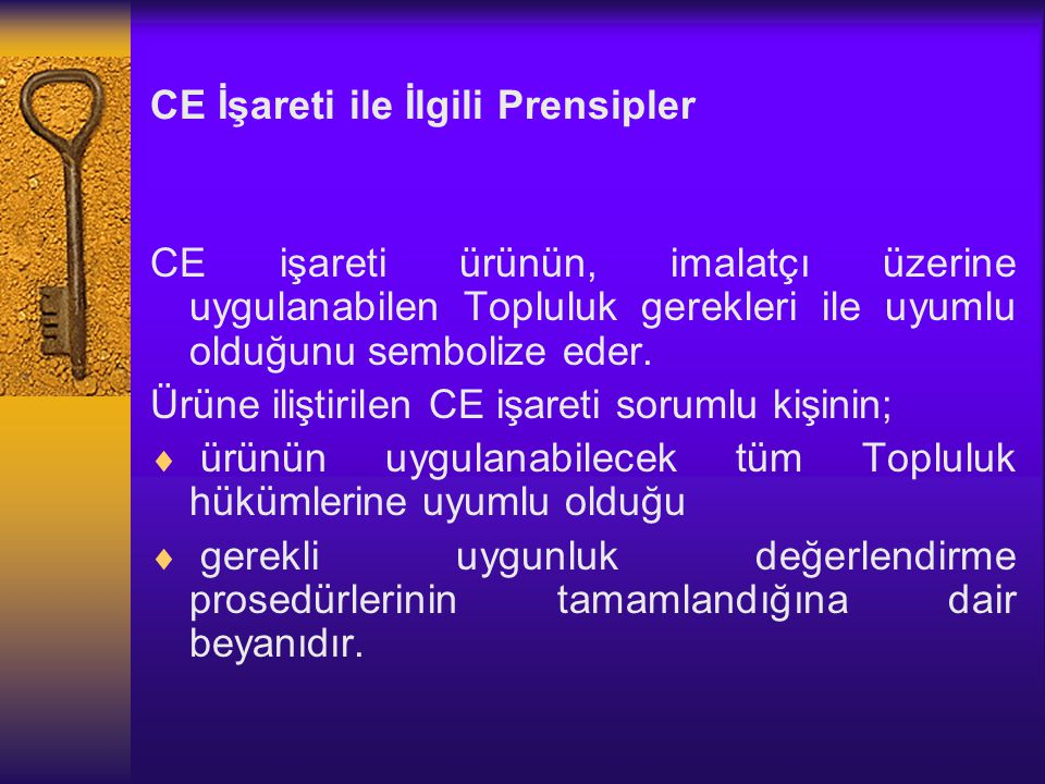CE İşareti ile İlgili Prensipler