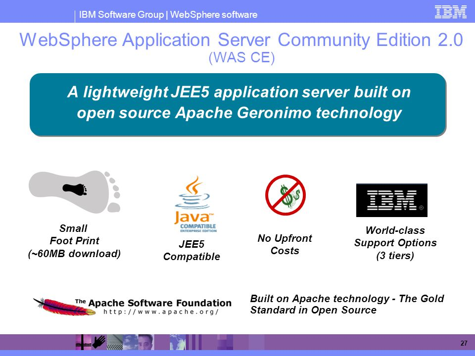 WebSphere Application Server Community Edition 2.0 (WAS CE)