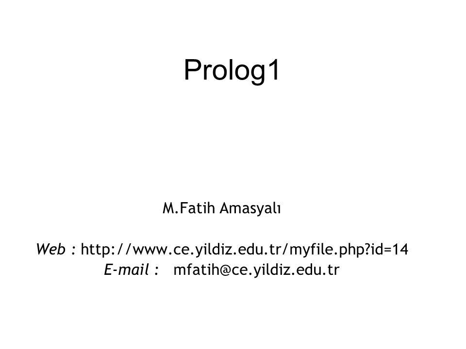 Prolog1 M.Fatih Amasyalı