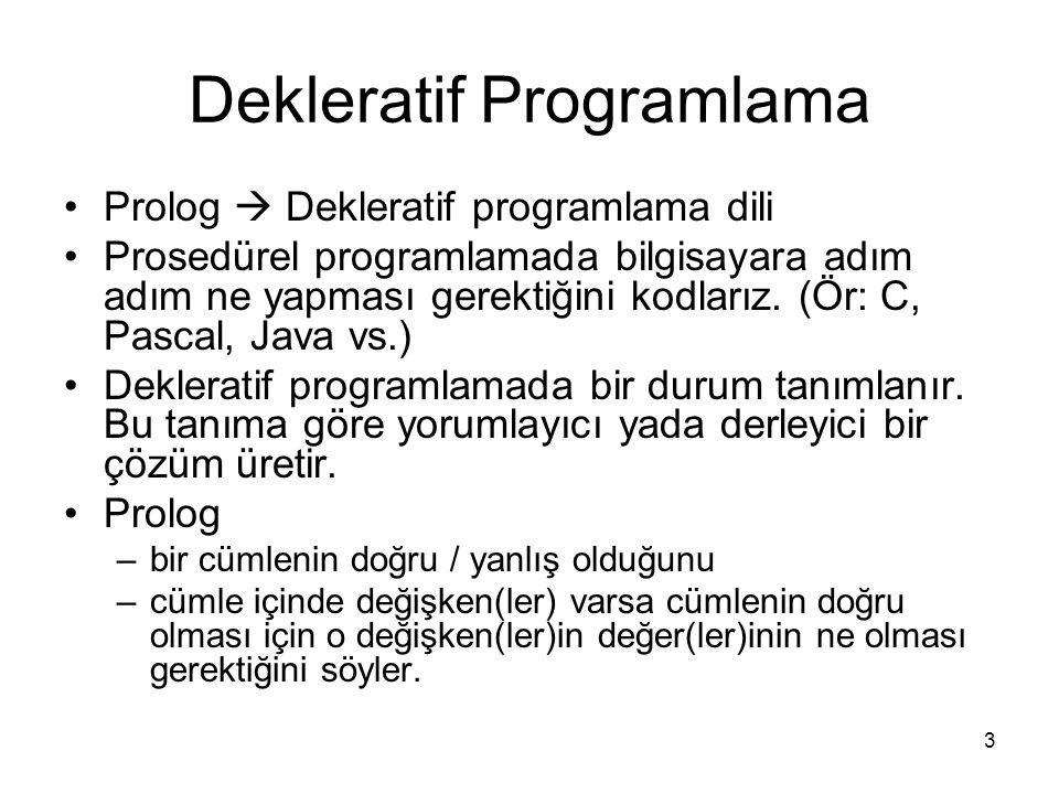 Dekleratif Programlama