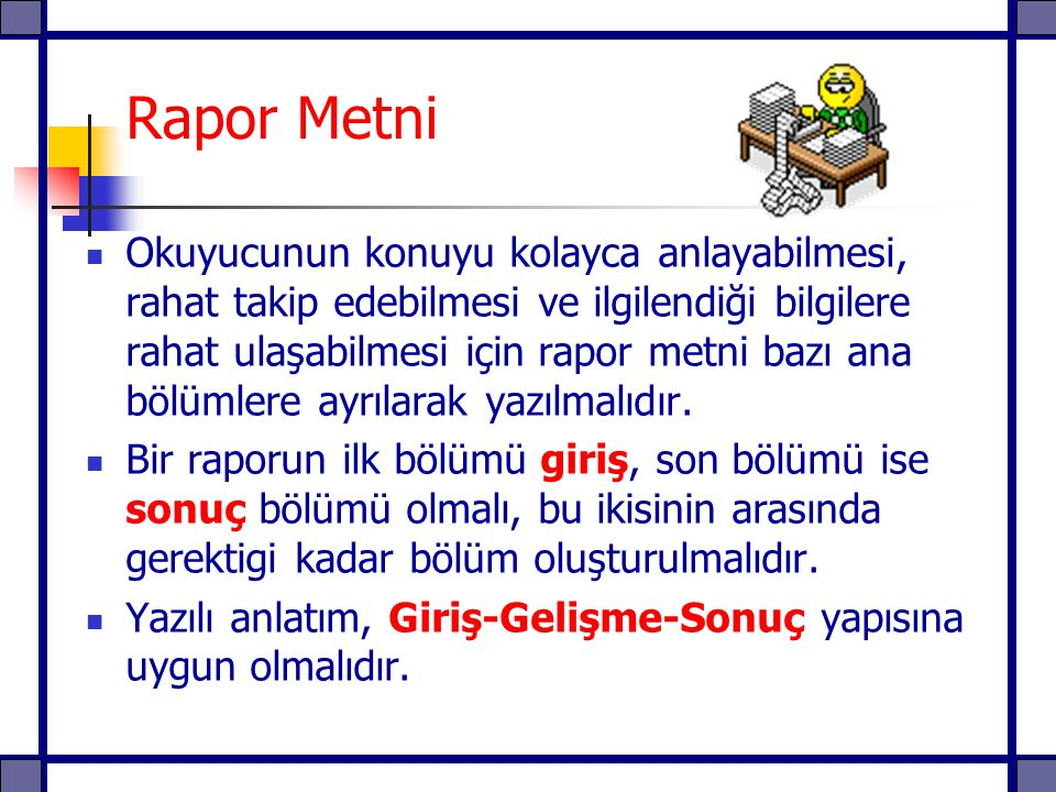 Rapor Metni