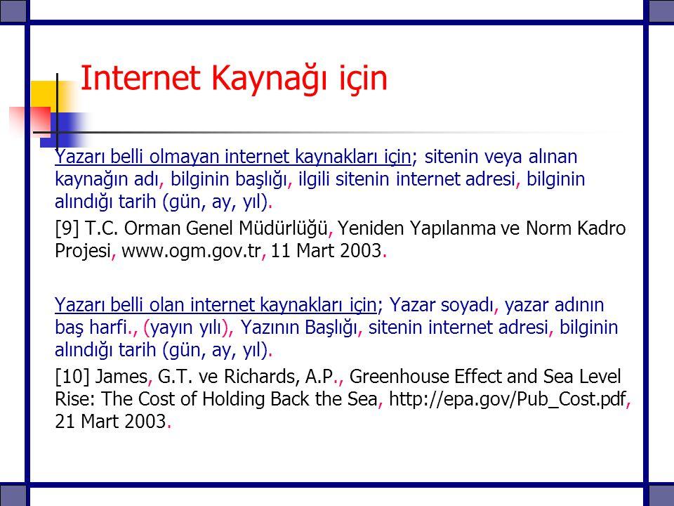 Internet Kaynağı için