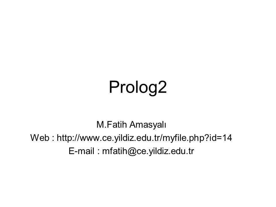 Prolog2 M.Fatih Amasyalı