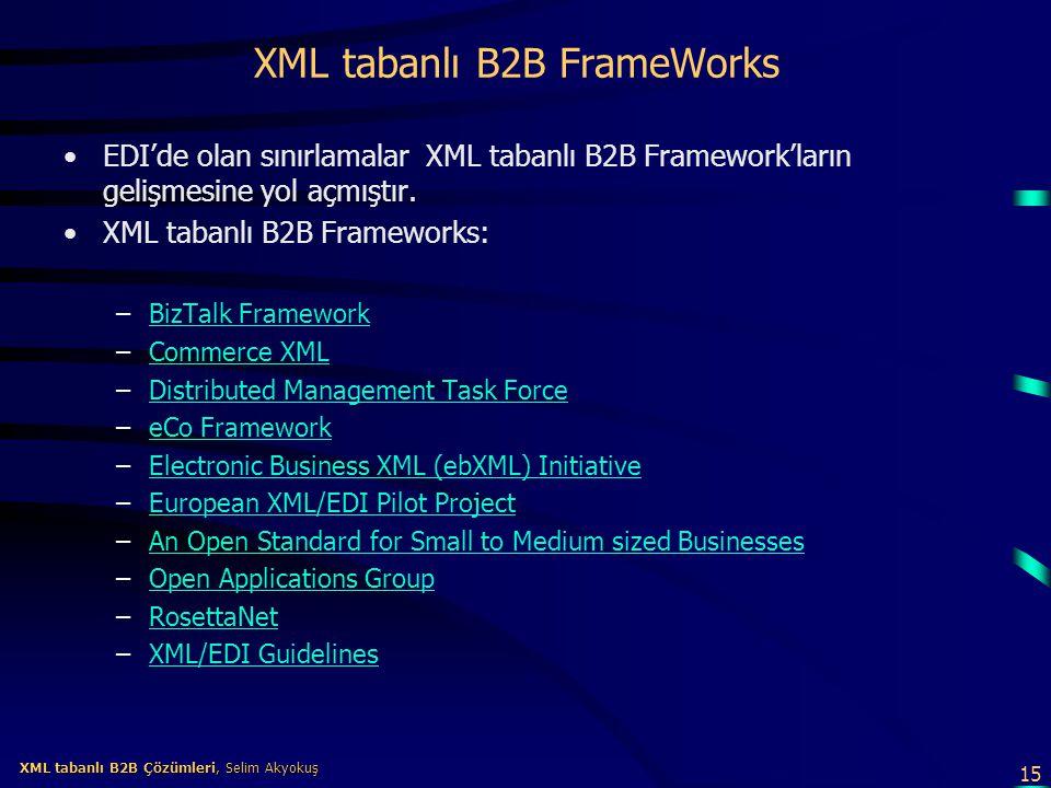 XML tabanlı B2B FrameWorks