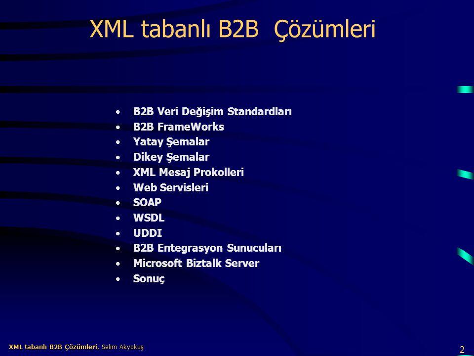 XML tabanlı B2B Çözümleri