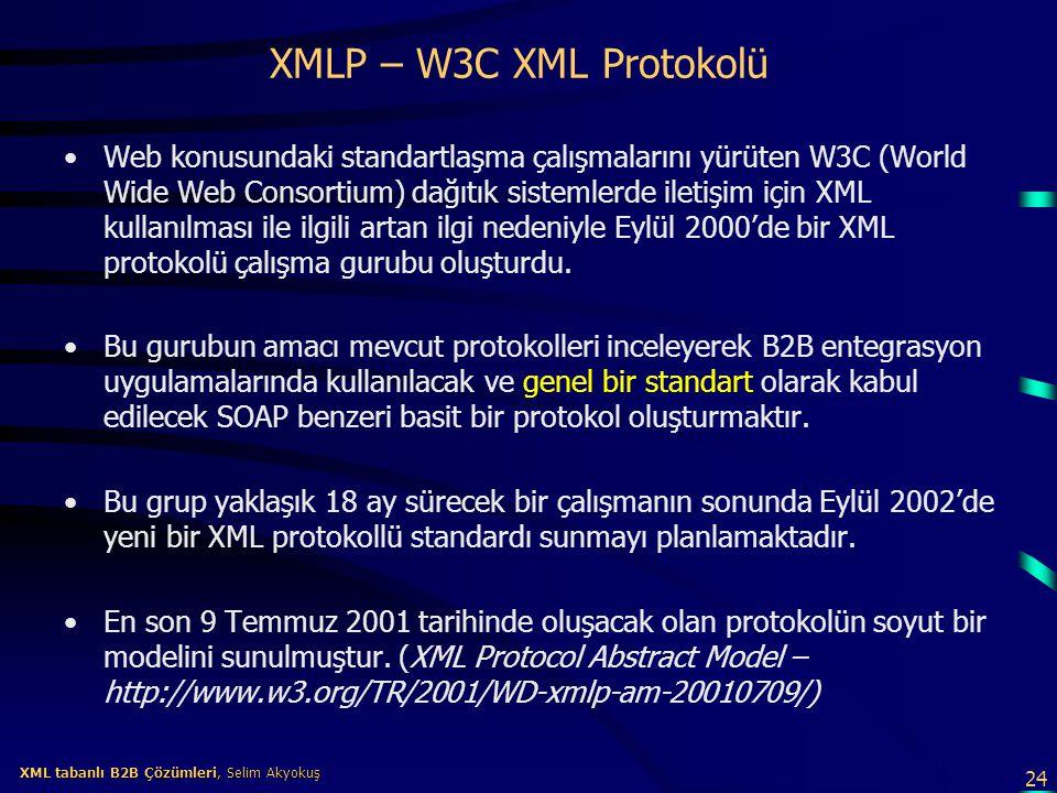 XMLP – W3C XML Protokolü