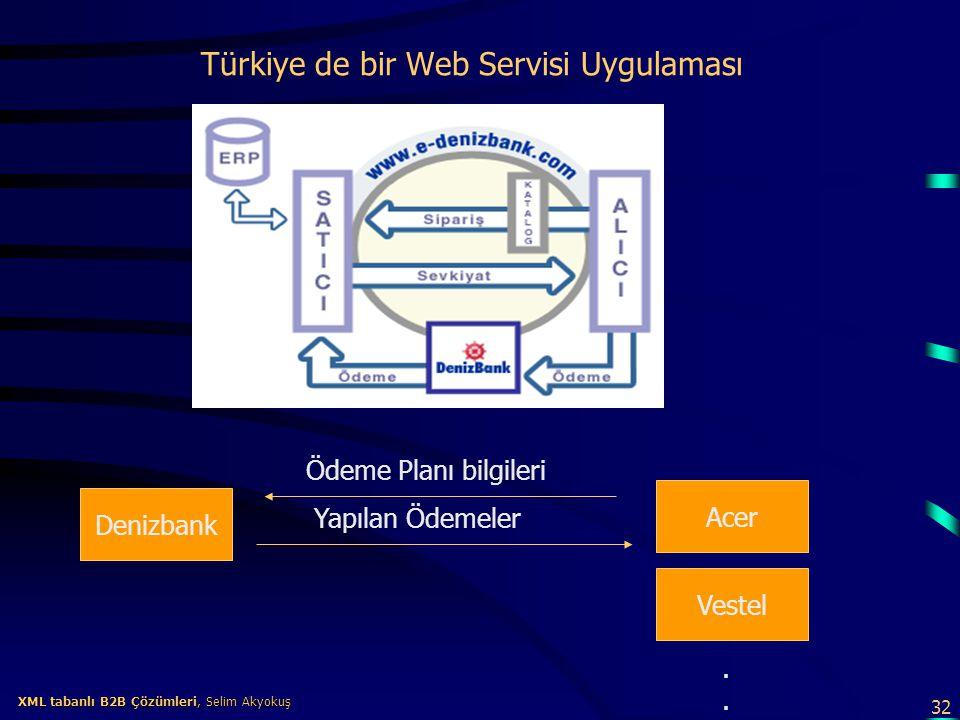 Türkiye de bir Web Servisi Uygulaması