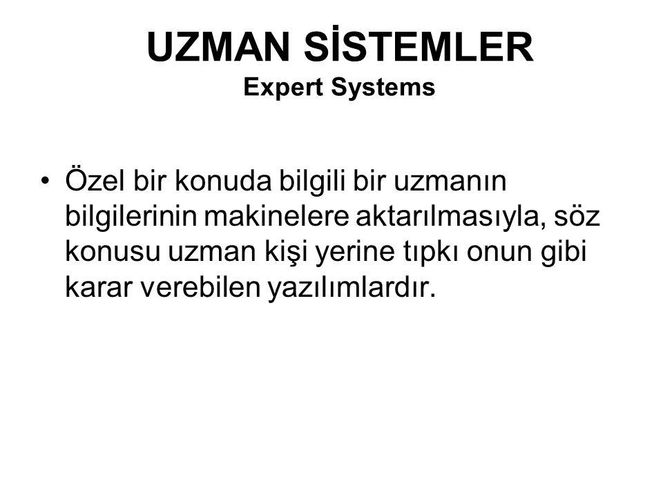 UZMAN SİSTEMLER Expert Systems