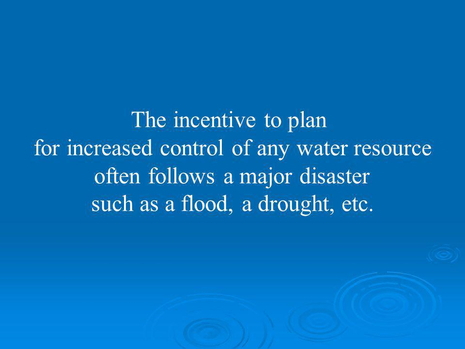 for increased control of any water resource