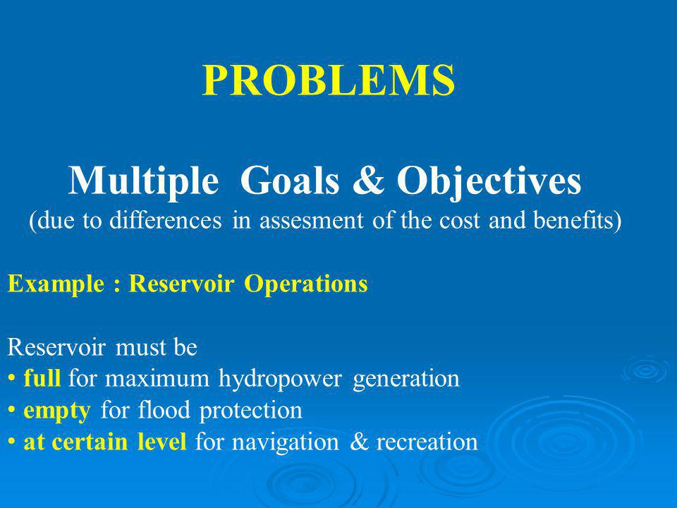 Multiple Goals & Objectives