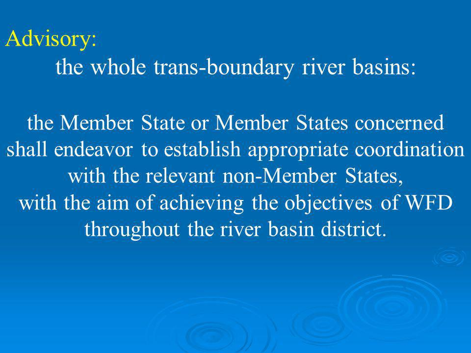the whole trans-boundary river basins: