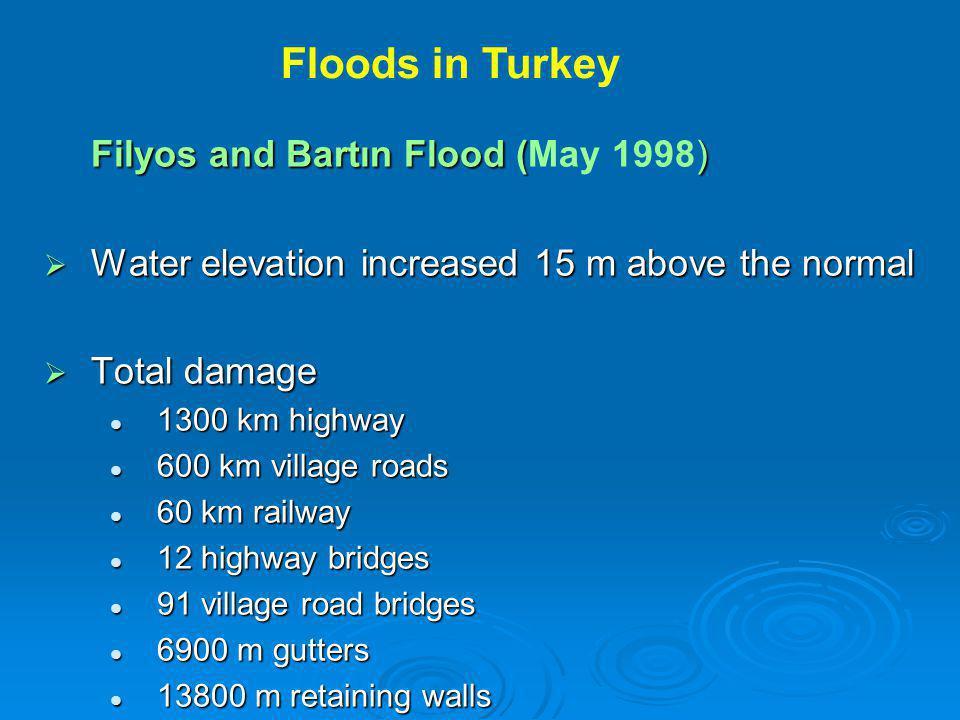 Filyos and Bartın Flood (May 1998)