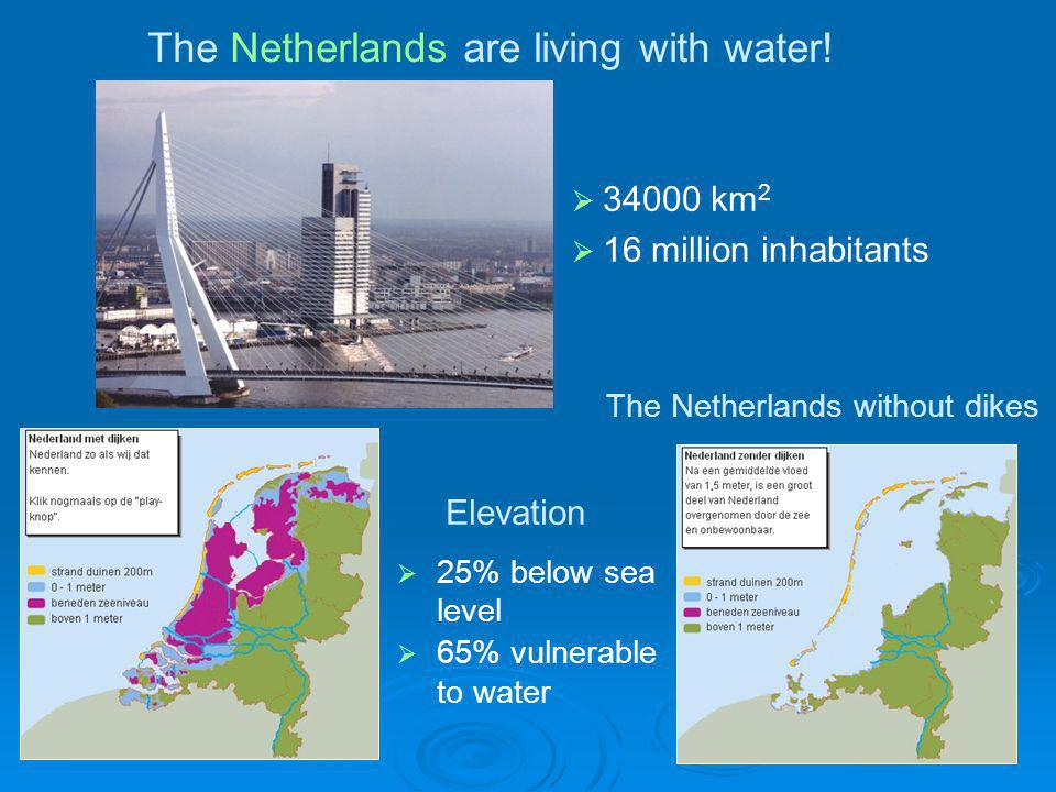 The Netherlands are living with water!