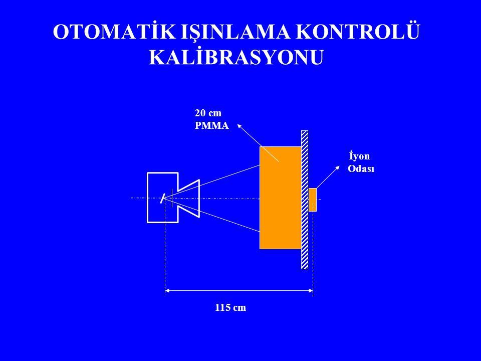 OTOMATİK IŞINLAMA KONTROLÜ KALİBRASYONU