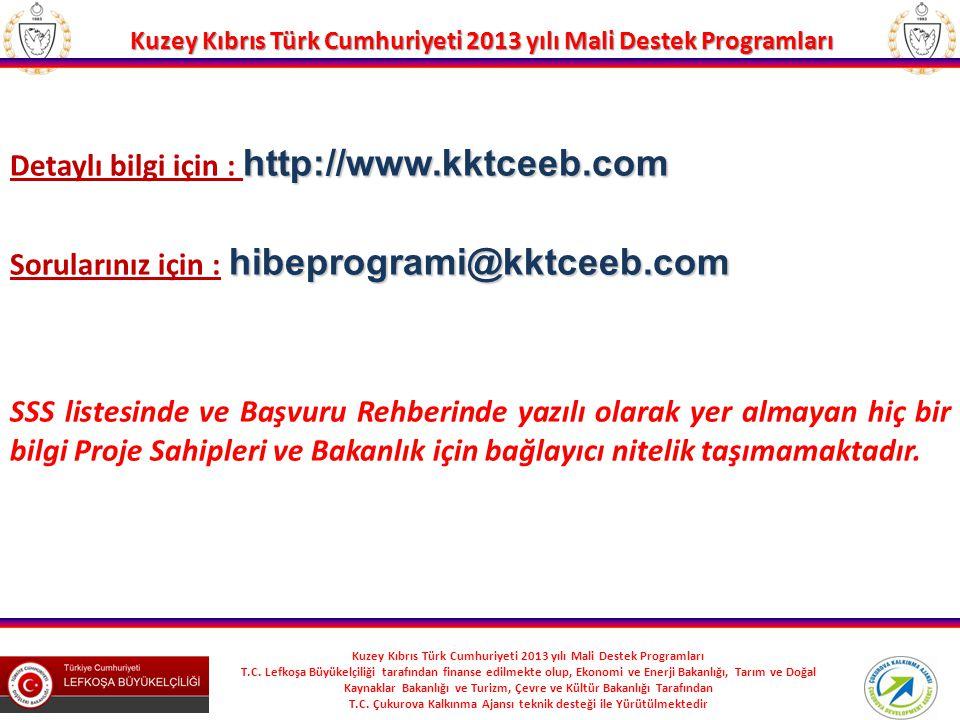 Detaylı bilgi için : http://www.kktceeb.com