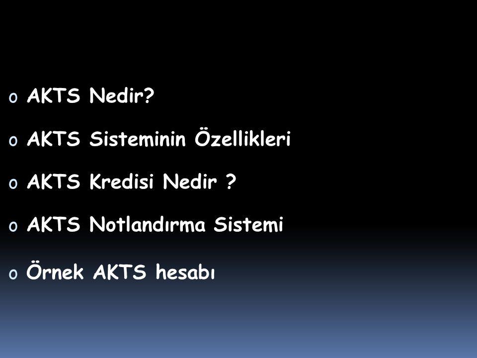 AKTS Nedir. AKTS Sisteminin Özellikleri. AKTS Kredisi Nedir .