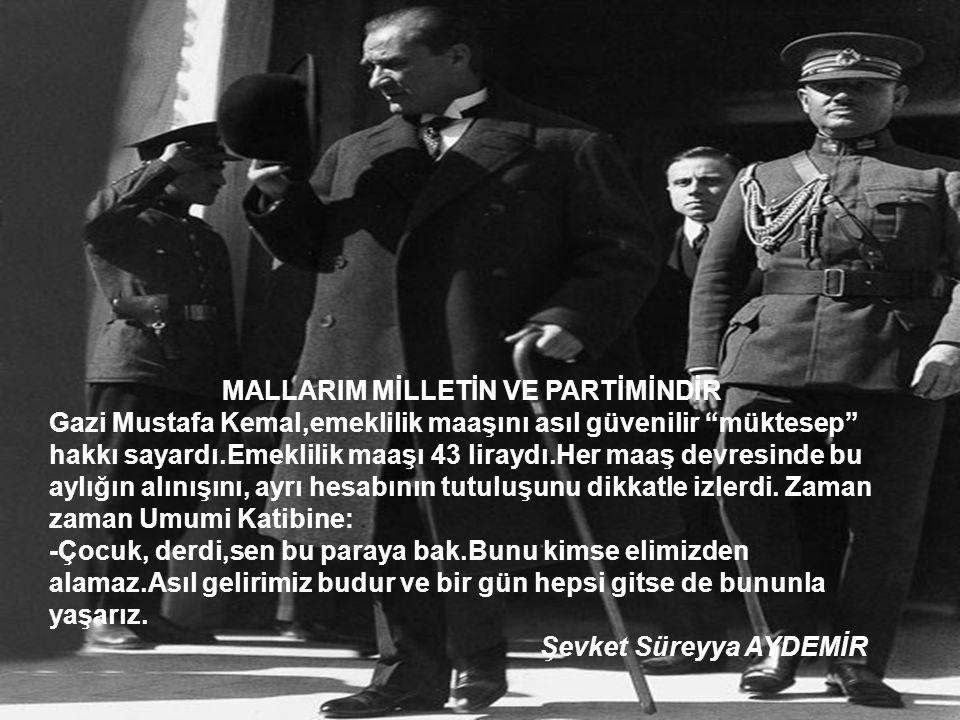 MALLARIM MİLLETİN VE PARTİMİNDİR