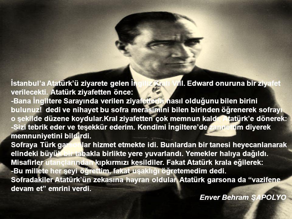 İstanbul'a Atatürk'ü ziyarete gelen İngiliz Kralı VIII