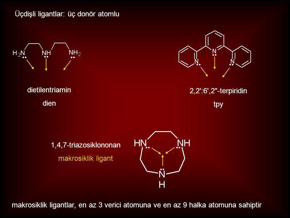 Üçdişli ligantlar: üç donör atomlu
