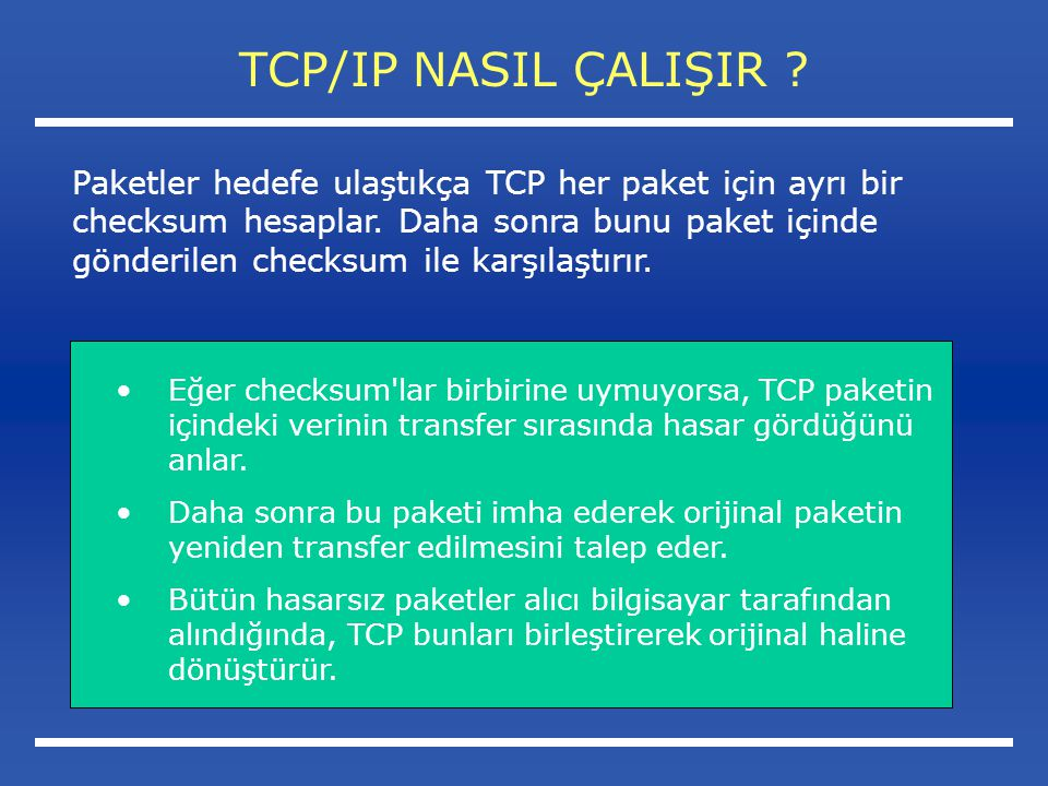 TCP/IP NASIL ÇALIŞIR