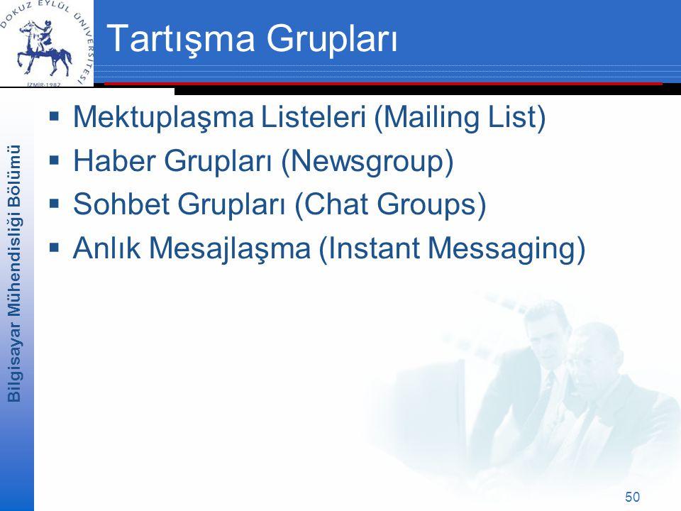 Tartışma Grupları Mektuplaşma Listeleri (Mailing List)