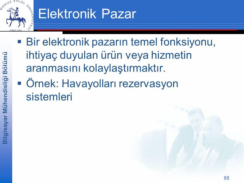 Elektronik Pazar Bir elektronik pazarın temel fonksiyonu, ihtiyaç duyulan ürün veya hizmetin aranmasını kolaylaştırmaktır.