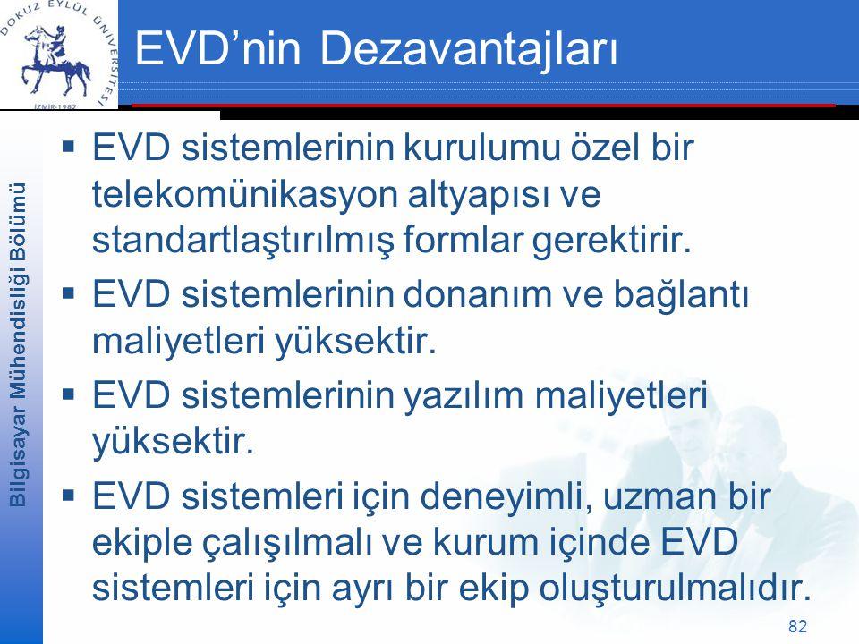 EVD'nin Dezavantajları