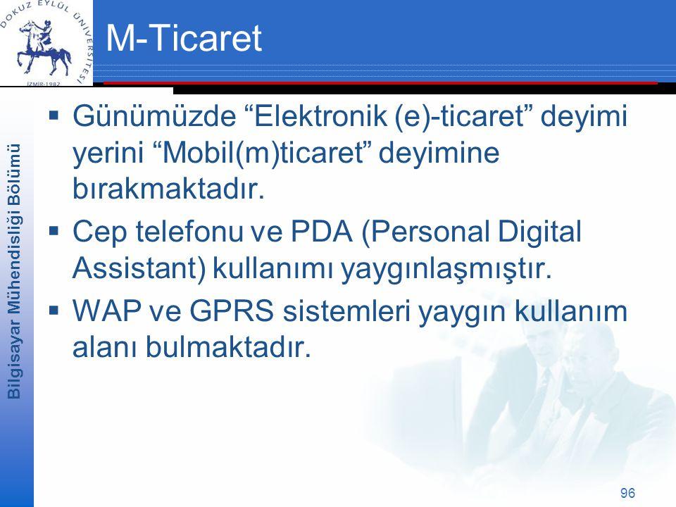 M-Ticaret Günümüzde Elektronik (e)-ticaret deyimi yerini Mobil(m)ticaret deyimine bırakmaktadır.
