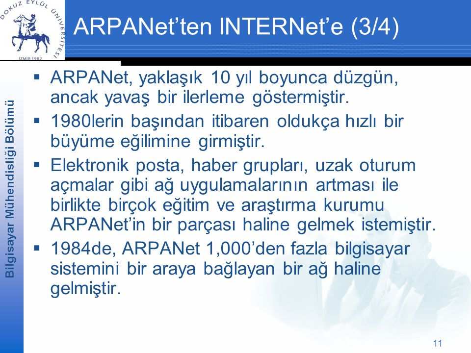 ARPANet'ten INTERNet'e (3/4)