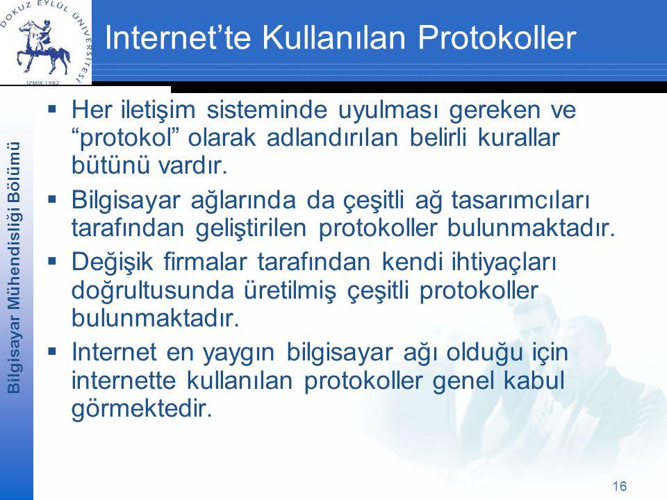 Internet'te Kullanılan Protokoller