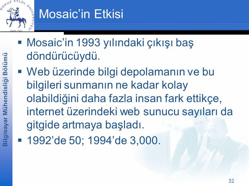 Mosaic'in Etkisi Mosaic'in 1993 yılındaki çıkışı baş döndürücüydü.