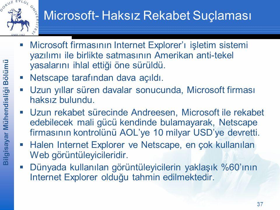 Microsoft- Haksız Rekabet Suçlaması
