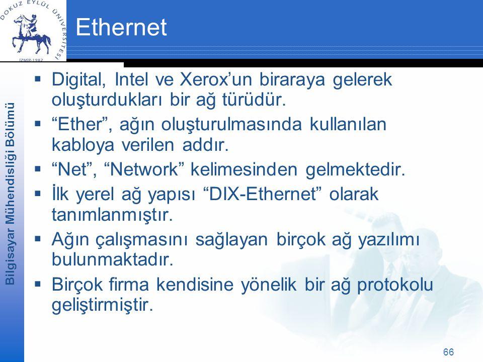 Ethernet Digital, Intel ve Xerox'un biraraya gelerek oluşturdukları bir ağ türüdür. Ether , ağın oluşturulmasında kullanılan kabloya verilen addır.