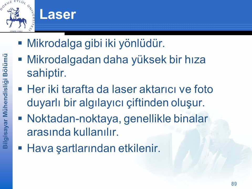 Laser Mikrodalga gibi iki yönlüdür.