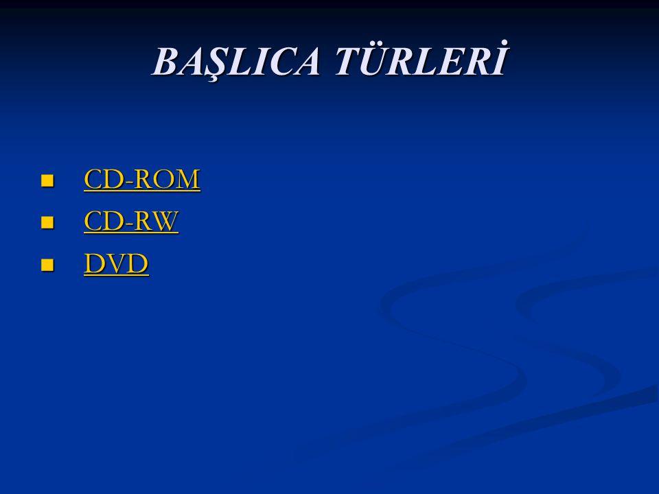 BAŞLICA TÜRLERİ CD-ROM CD-RW DVD
