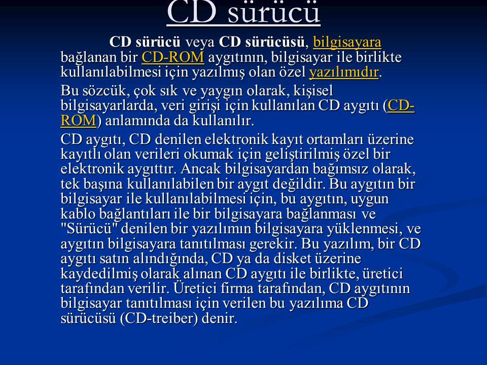 CD sürücü