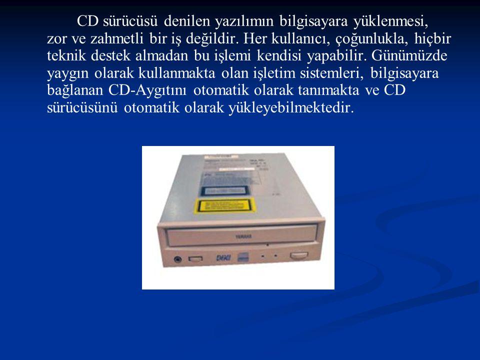 CD sürücüsü denilen yazılımın bilgisayara yüklenmesi, zor ve zahmetli bir iş değildir.