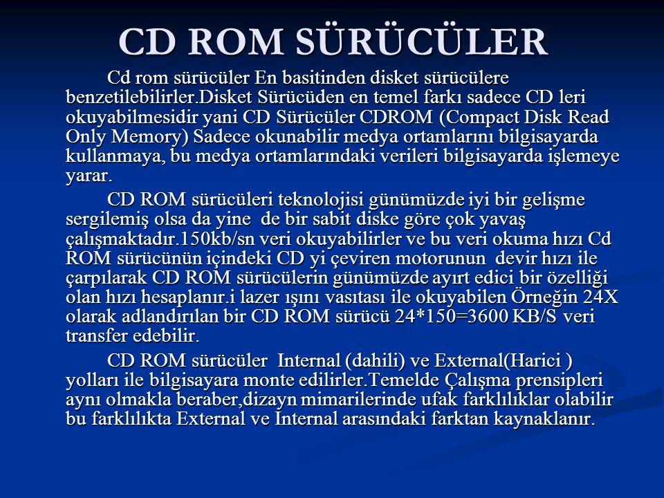 CD ROM SÜRÜCÜLER
