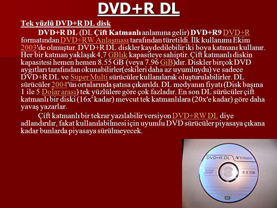 DVD+R DL Tek yüzlü DVD+R DL disk