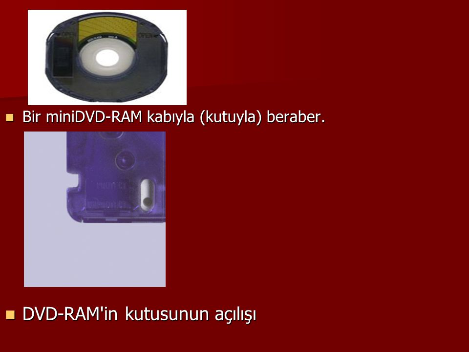 DVD-RAM in kutusunun açılışı