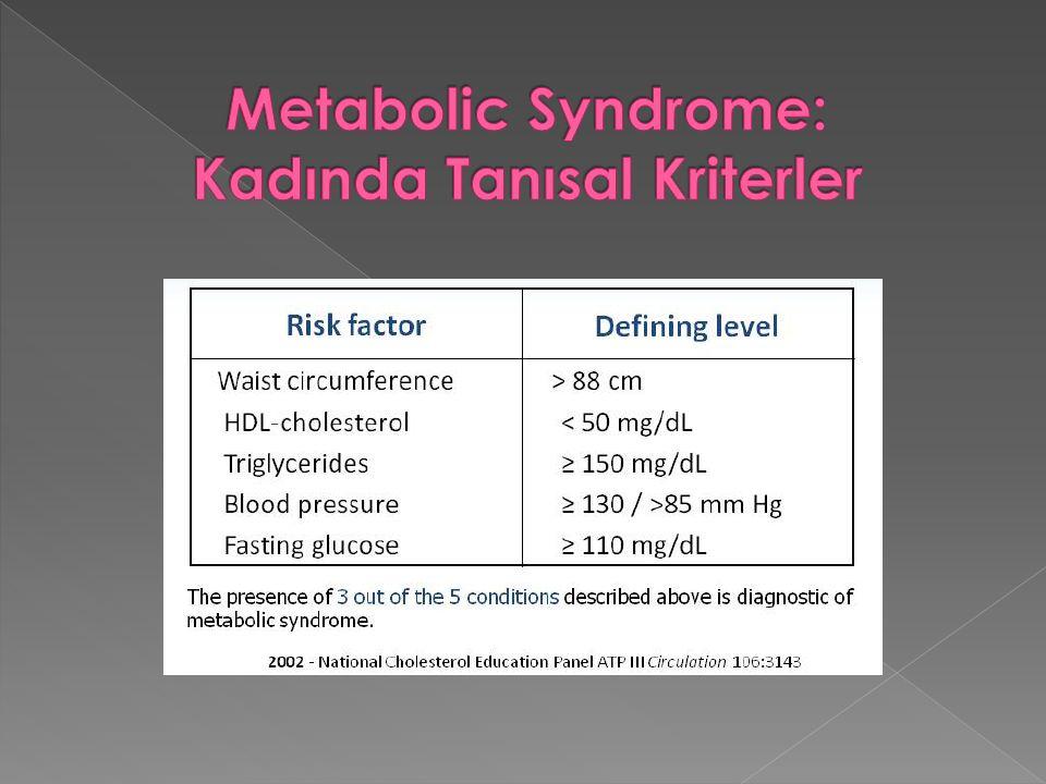 Metabolic Syndrome: Kadında Tanısal Kriterler