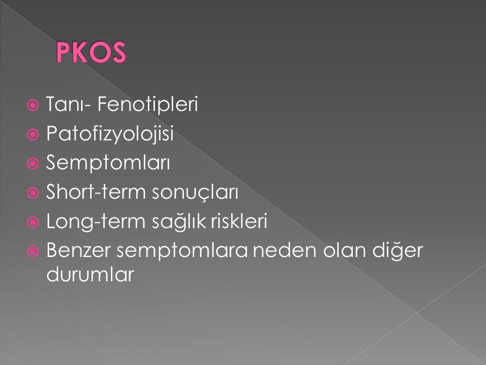 PKOS Tanı- Fenotipleri Patofizyolojisi Semptomları