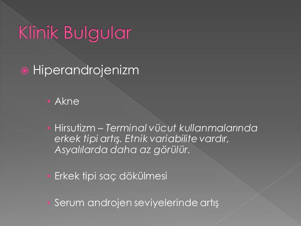 Klinik Bulgular Hiperandrojenizm Akne