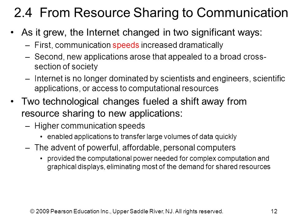 2.4 From Resource Sharing to Communication